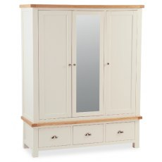 Global Home Suffolk Mirrored Triple Wardrobe