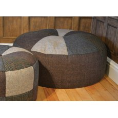 Tetrad Harris Tweed Pumpkin Large Fabric Footstool