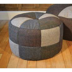 Tetrad Harris Tweed Pumpkin Small Fabric Footstool