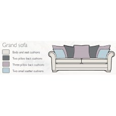 Alstons Franklin Pillow Back Grand Sofa