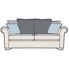 Alstons Franklin Pillow Back 3 Seater Sofa