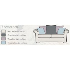 Alstons Franklin Pillow Back 2 Seater Sofa