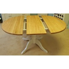 Andrena Barley Small Extending Oval Pedestal Dining Table