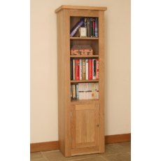 Andrena Elements Open Narrow Bookcase With Door