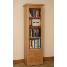 Andrena Elements Open Narrow Bookcase 2 Drawers