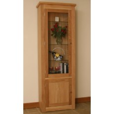 Andrena Elements Tall Medium Glazed Bookcase With Door