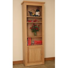 Andrena Elements Tall Medium Open Bookcase With Door