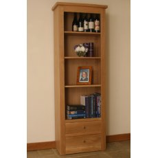 Andrena Elements Tall Medium Open Bookcase With Drawers