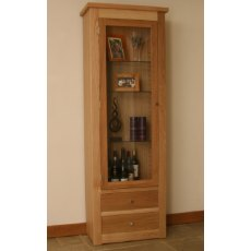 Andrena Elements Tall Medium Glazed Bookcase With Drawers