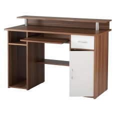 Alphason Desks Albany French Walnut Effect Computer Workcentre