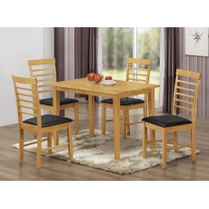 Annaghmore Hanover Oak 1 x 4 Dining Set (Light Oak)