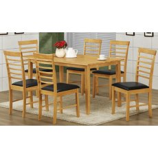 Annaghmore Hanover Oak 1 x 6 Dining Set (Light Oak)