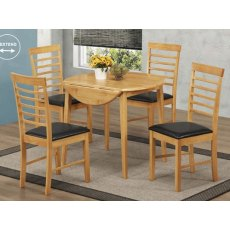 Annaghmore Hanover Oak Round Drop Leaf Dining Set
