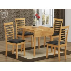 Annaghmore Hanover Oak Square drop Leaf Dining Set