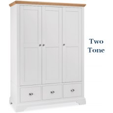 Bentley Design Hampstead Triple Wardrobe