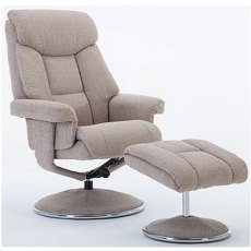 GFA Biarritz Swivel Recliner And Footstool