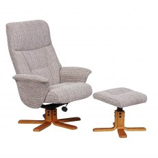 GFA Marseille Swivel Recliner And Footstool