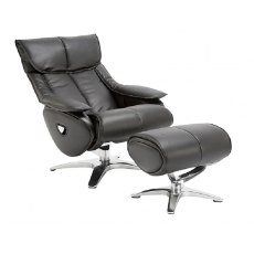 GFA Alpha Swivel Recliner And Footstool