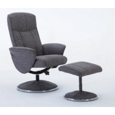 GFA Verona Swivel Recliner And Footstool