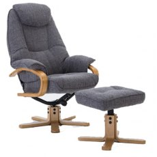 GFA Pisa Swivel Recliner And Footstool