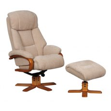 GFA Nice Swivel Recliner And Footstool