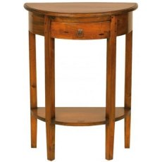 Ancient Mariner Mahogany Village Half Round Console Table
