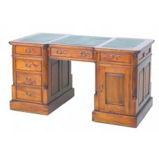 Ancient Mariner Mahogany Village Desk with Green Top