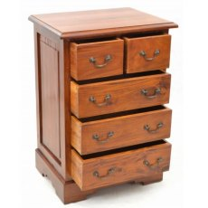 Ancient Mariner Mahogany Village Two over Three Chest of Drawers