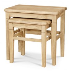 Clemence Richard Moreno Oak Nest Of Tables