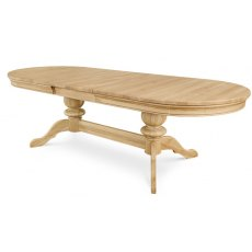Clemence Richard Moreno Oak Double Pedestal Table