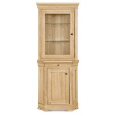 Clemence Richard Moreno Oak Corner Display Cabinet (Top & Sideboard)