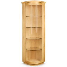 Clemence Richard Sorento Oak Corner Display Cabinet