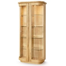 Clemence Richard Sorento Oak High Display Cabinet