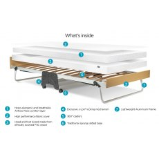 Jay-Be J-Bed Folding Bed With Performance Airflow Mattress, Single