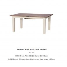 Baker Furniture Cotswold 180cm Extending Dining Table