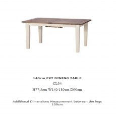 Baker Furniture Cotswold 140cm Extending Dining Table