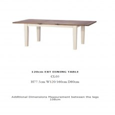 Baker Furniture Cotswold 120cm Extending Dining Table