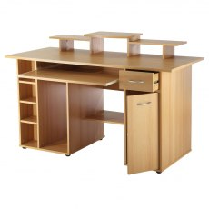 Alphason Desks San Diego Beech Effect Utility Workcentre