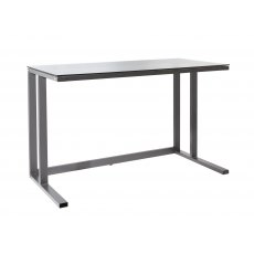 Alphason Desks Air Black Framed And Smoked Glass Desk