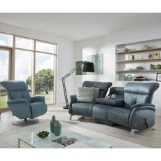 Himolla Swan 3 Seater Trapezodial Recliner Sofa With Table