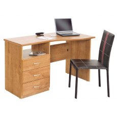 Glenwood Sorbonne 4' Shaped Pedestal Desk