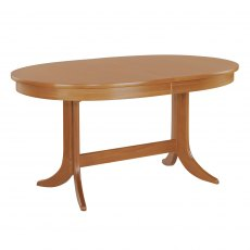 Nathan Classic Teak Large Oval Pedestal Living & Dining Table