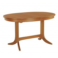 Nathan Classic Teak Oval Pedestal Living & Dining Table