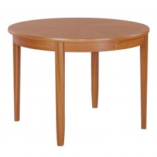 Nathan Classic Teak Circular Living & Dining Table on Legs