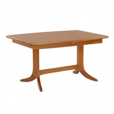 Nathan Classic Teak Small Boat Shaped Pedestal Living & Dining Table