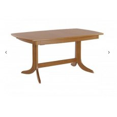 Nathan Classic Teak Extending Boat Shaped Pedestal Dining Table