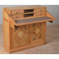 Carlton Furniture Manor Welbeck Campaign Desk (marble Inlay)