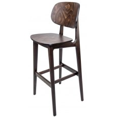 Hafren Contract Garda Bar Stool With Veneer Seat
