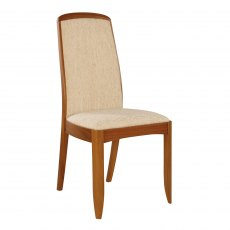 Nathan Classic Teak Fully Upholstered Living & Dining Chair