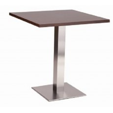 Hafren Contract Danilo Square Medium Base Table With Square Solid Wood Top